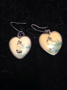 Vintage Heart-Shaped Earrings (Upper East Side)