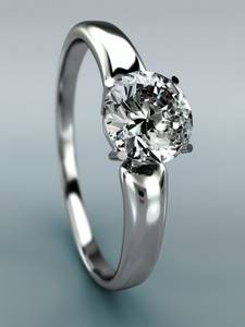 2.47 Carat H I1 Diamond Ring 14k White Gold Valentine's Special (Hollywood)