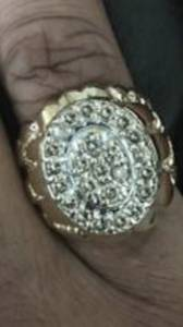 Mens 10k Huge Gold and Diamond Nugget Ring. (Indianapolis)