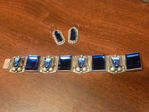 Huge Unique Bracelet and Earring set *Sterling Silver* (Poulsbo)