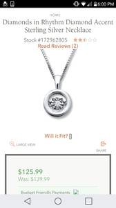 Jared's Jewelers Diamonds in Rhythm Sterling Silver Necklace