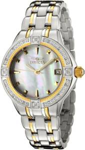 Invicta Women's 0267 II Collection Diamond Accented Two-Tone Stainless (East