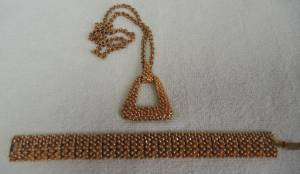 Vintage Sarah Coventry Necklace and Bracelet set, 1974 (Farmington, NM)