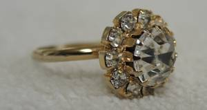 Vintage Rhinestone Cluster Ring (Farmington, NM)