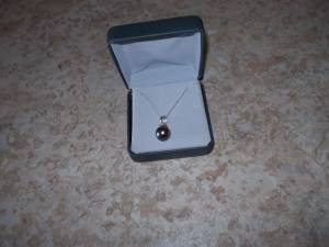 Tahitian pearl white gold pendant (Minneapolis)