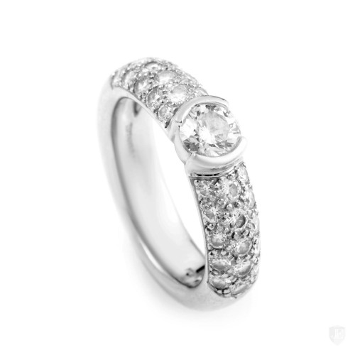 Tiffany & Co. Tiffany & Co. Etoile Platinum & Diamond Engagement Ring