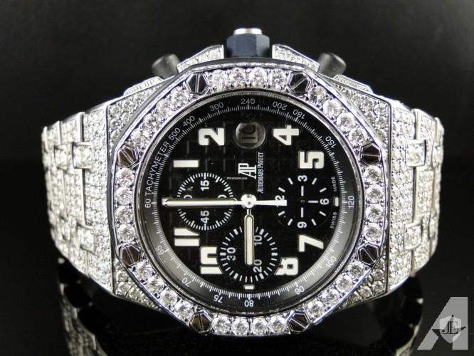 Audemars Piguet Mens Iced Out Royal Oak Offshore Diamond Watch 26 Ct