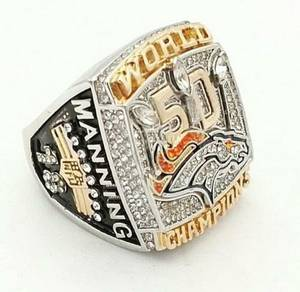 Denver Broncos Super Bowl 50 Payton Manning Ring New Size 11 (Lincolnpark down