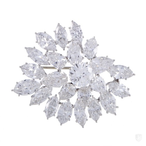 Harry Winston Harry Winston Platinum Diamond Cluster Brooch