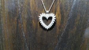 14K WG NECKLACE & HEART PENDANT 1CTTW DIAMONDS !!! NWT (Glendale)