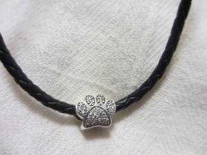 Pandora paw print charm necklace (Downtown Raleigh)