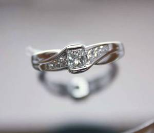 1.06 ct princess cut diamond engagement ring
