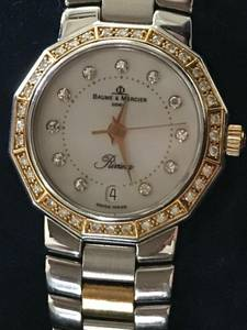 BEAUTIFUL BAUME & MERCIER LADIES 18 K GOLD WATCH W 47 DIAMONDS (Citrus Heights)