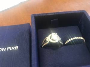 Beautiful engagement and wedding ring (New Albany)