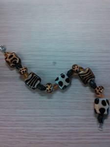 Bracelet leopard print glass 8.5