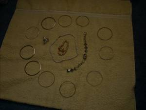 various costume jewelry BIG ring skull bracelet (colorado ave.)