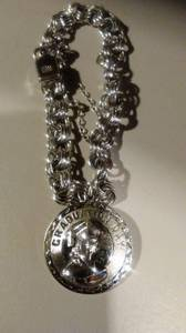 Vintage Elco Sterling silver double link bracelet (East Columbus)