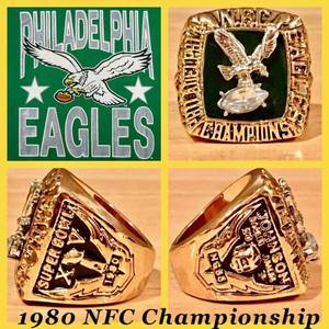 Philadelphia Eagles 1980 NFC Championship Ring Size 11.5