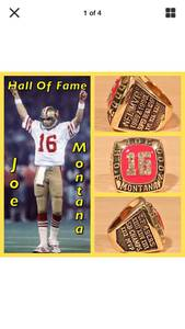 San Francisco 49ers Joe Montana HOF Induction Ring Size 11