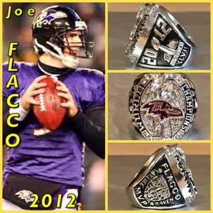 Baltimore Ravens Joe Flacco 2012 Championship Ring Size 11-Replica