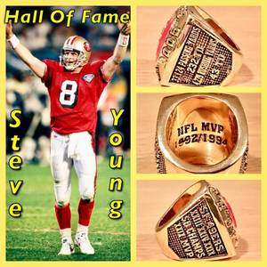 San Francisco 49ers Steve Young HOF Induction Ring Size 10.5