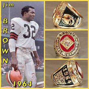 Cleveland Browns Jim Brown 1964 Championship Ring Size 11-Replica
