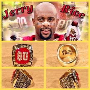 San Francisco 49ers Jerry Rice HOF Induction Ring Size 11-Replica