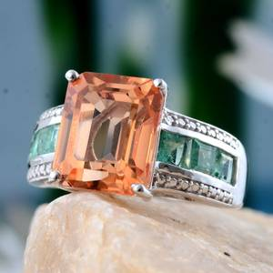 Imperial Quartz and Emerald Ring - Size 6 (Glendale)