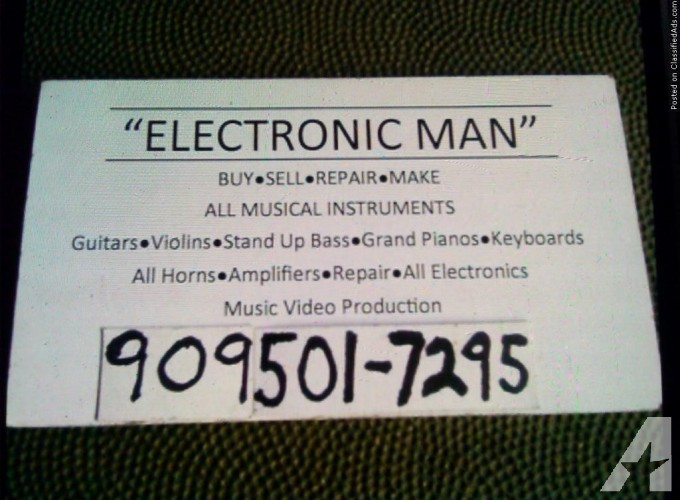 Electronic Man. Music Company Repair All Musical Instruments