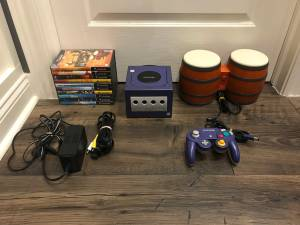 Complete Nintendo GameCube System with Donkey Kong Bongos and 10 Games