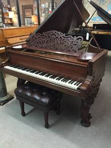 Steinway & Sons 7 Foot Artcase Grand Piano & Adjustable Concert Bench