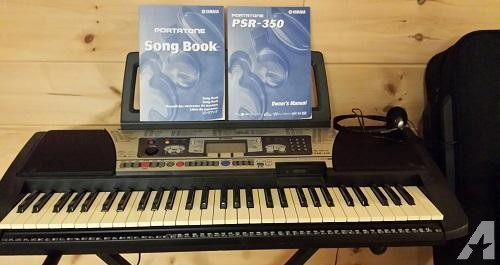Yamaha Portable Electric Piano With Case/books/stand