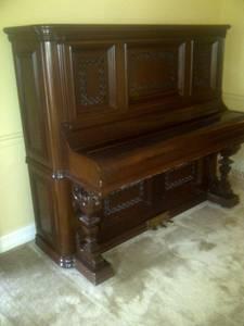 Fischer, New York -- Upright Cabinet Grand Piano