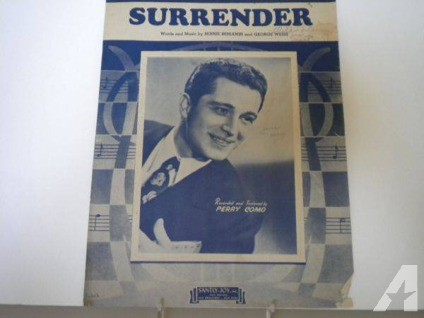 $3 vintage sheet music (Surrender by Perry Como) (Arvada)