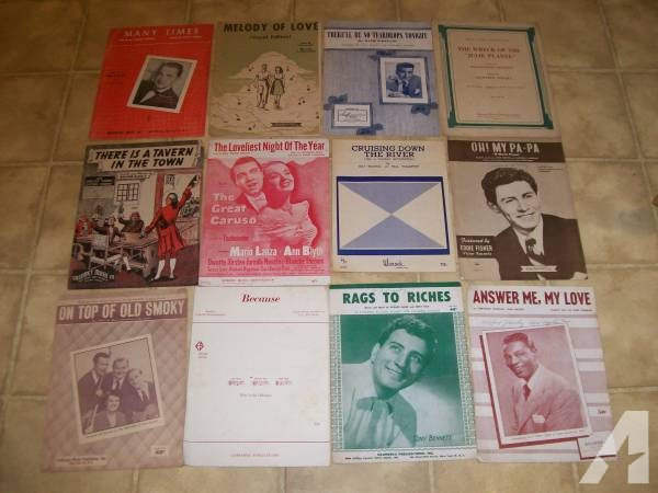 Vintage Sheet Music - 1930s,1940s,1950s -