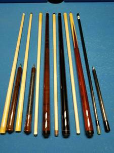 J&J jump break cues, cue cases and billiard accessories (Nisbet)