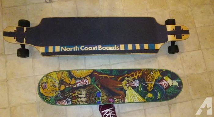 SKATEBOARDS! $125ea or $250 for both. Longboard and Standard Board.
