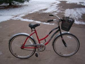 single speed crusier bike with fat tires and fenders (Andover)