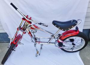 Schwinn Stingray OCC Chopper Red Flames Chrome Bike Bicycle (Berkley)
