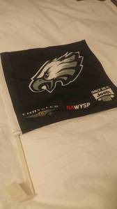 philadelphia eagles car flag (wayne pa or paoli pa)