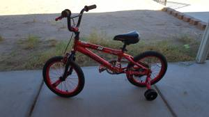 kids bike with training wheels (Foothills)