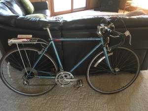Vintage Peugeot 12 speed road bike