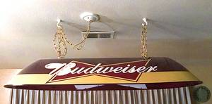 Budweiser pool table light (Denver)