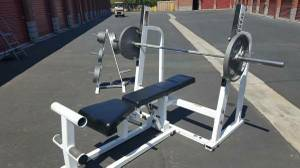 Paramount Adjustable Bench Press,Weights and Bar,Gym Equipment (Simi Valley)