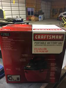 Craftsman Wet/Dry Vac (New Underwood)