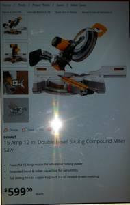 Dewalt dual miter saw (Media)