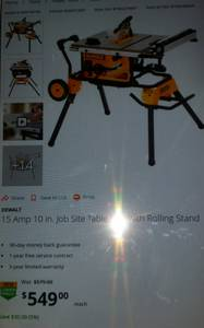 Dewalt table saw with stand (Media)