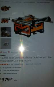 Dewalt table saw (Media)