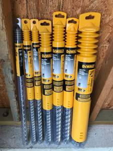 Never Used DeWalt Rotary Hammer Drill Bits (AMBOY)