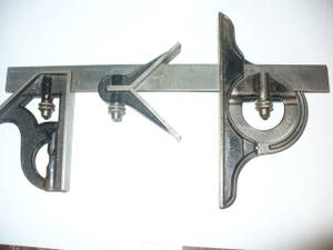 4 piece antique # 490 starrett combination square set (Po)